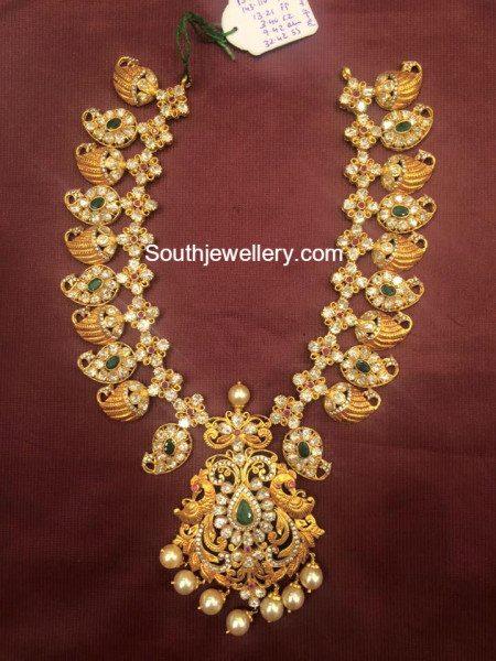 100 Grams Pacchi Mango Haram Jewellery Designs
