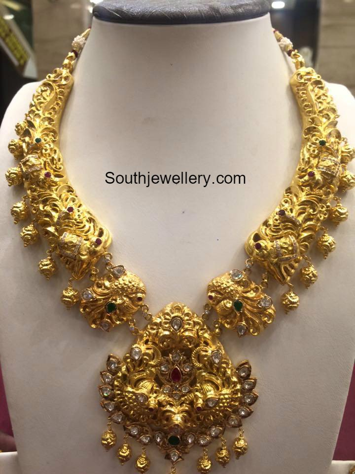 2016 gold necklace models latest jewelry designs - Jewellery Designs