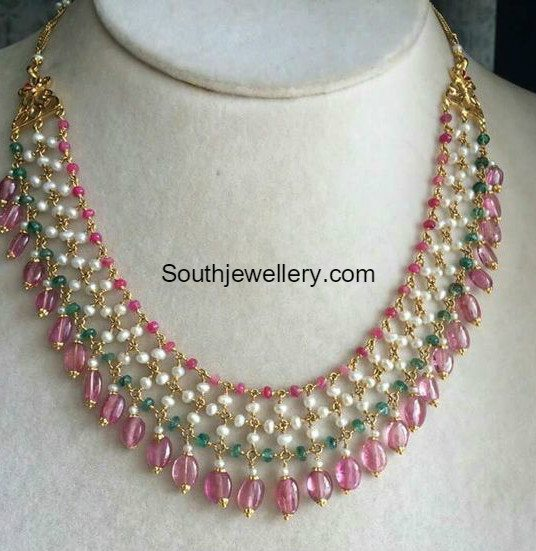 30398b80cfc9fc Light Weight Beads Necklace - Jewellery Designs