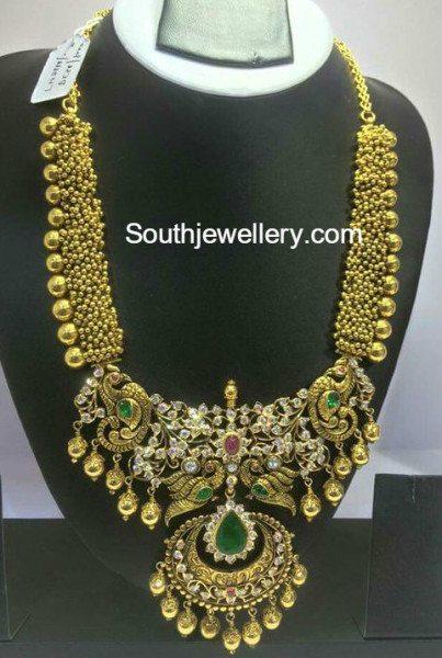 antique_gold_gajjalu_haram