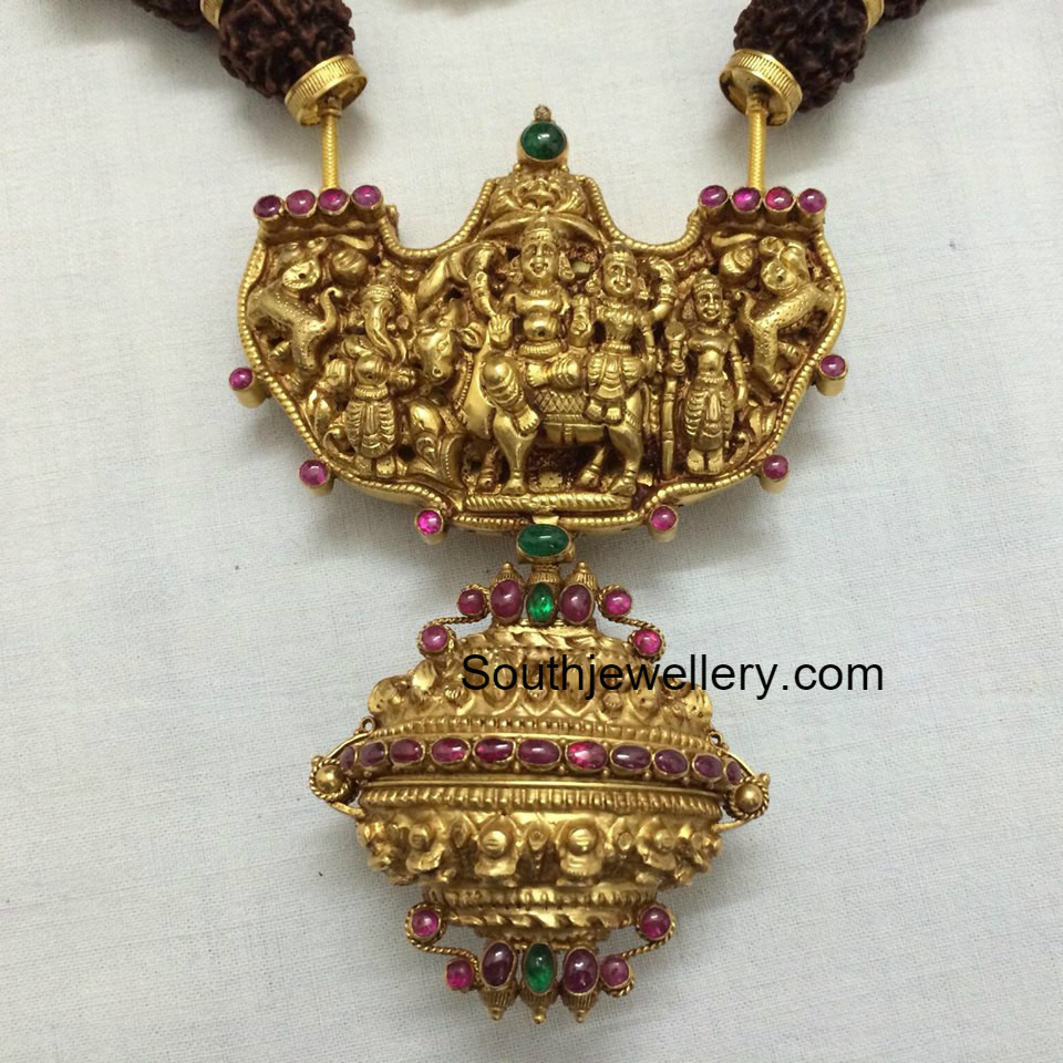 Antique gold pendant jewellery designs mozeypictures Gallery