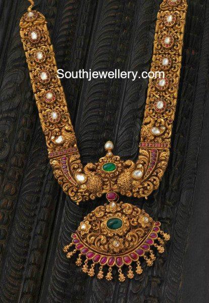 heavy_antique_gold_nakshi_haram