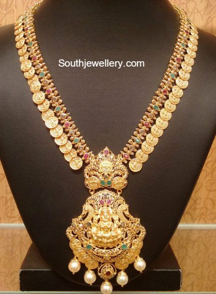 Kasu Haram With Lakshmi Pendant Indian Jewellery Designs