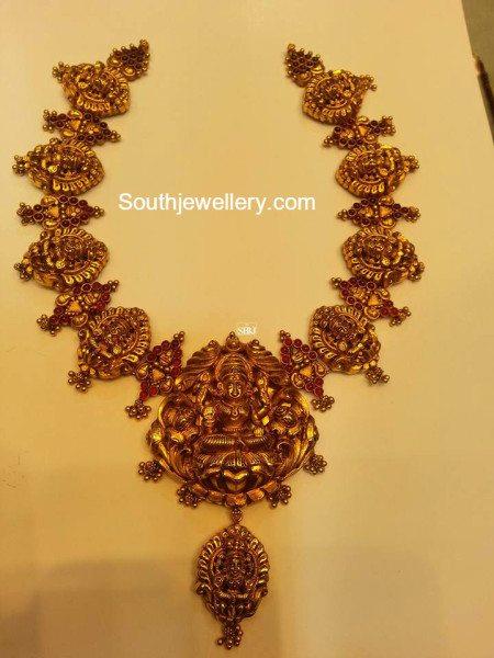 Antique Temple Necklace Jewellery Designs