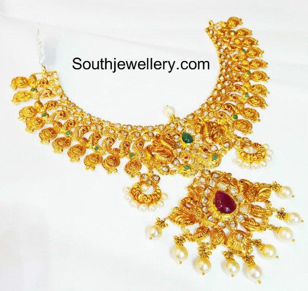 peacock_lakshmi_kasu_necklace