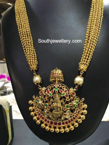 gold_balls_haram_lakshmi_pendant
