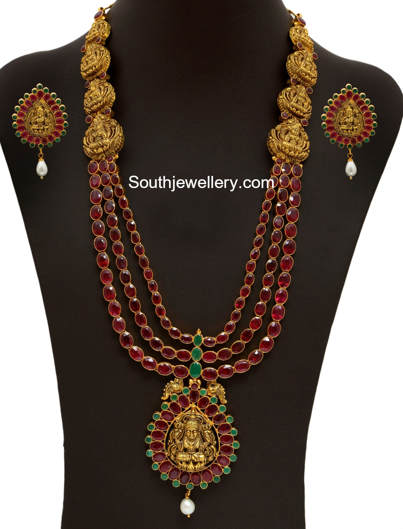Ruby Long Chain Latest Jewelry Designs Jewellery Designs