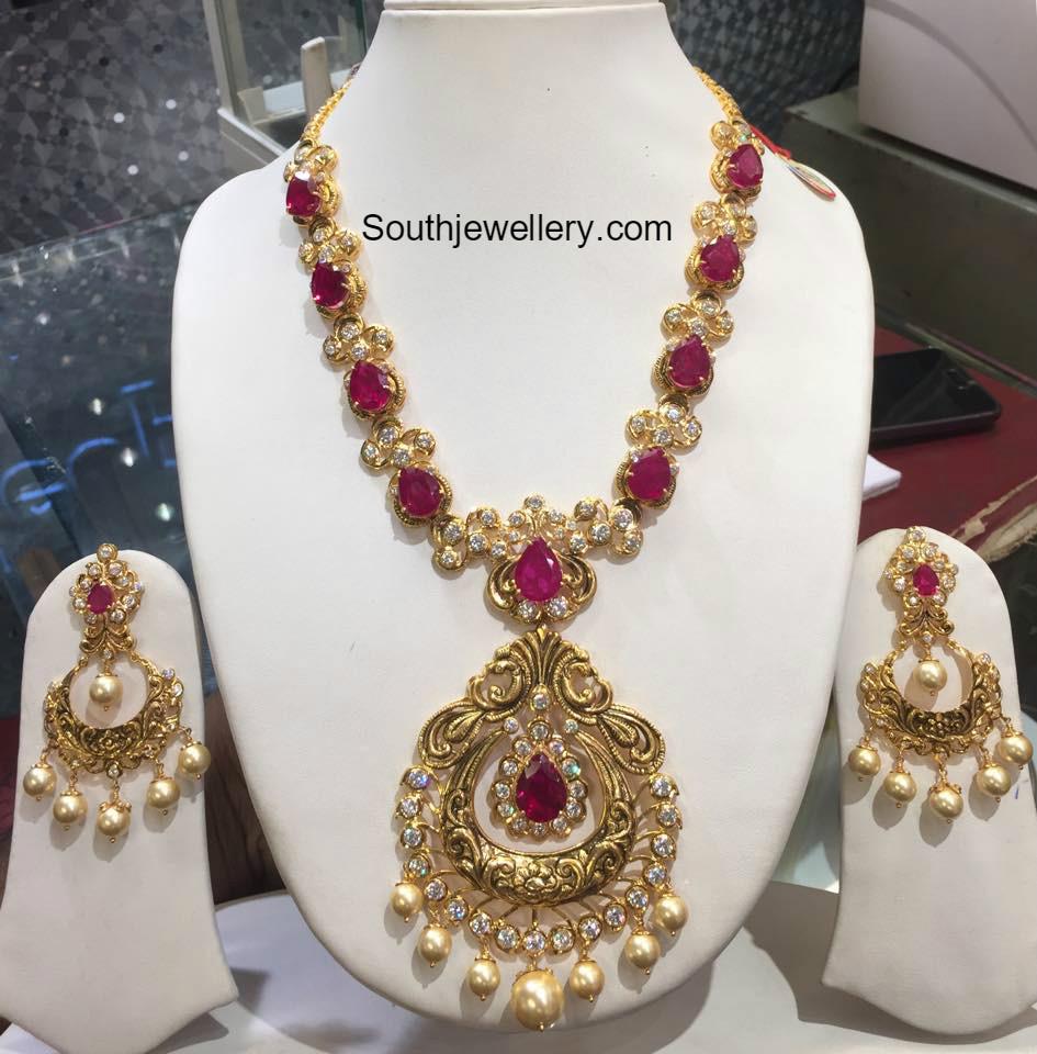 Ruby earrings designs
