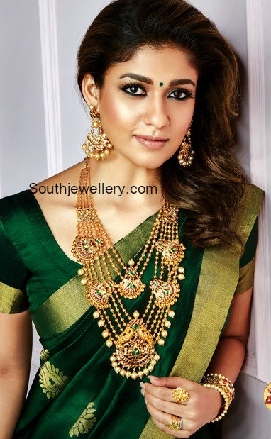 Nayanthara In Antique Gold Jewellery Jewellery Designs