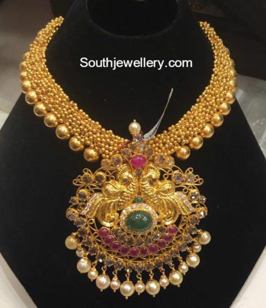 antique_gold_gajjalU-necklace