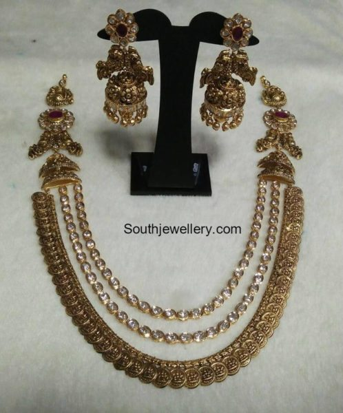 lakshmi_kasu_mala_and_jhumkas