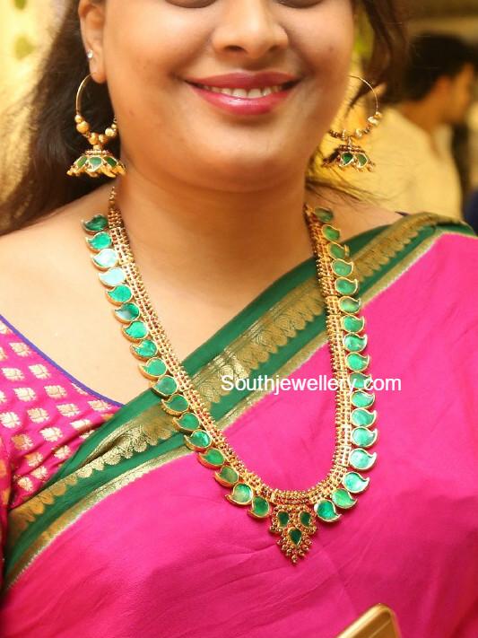 Mango Palakka Mala Latest Jewelry Designs Jewellery Designs