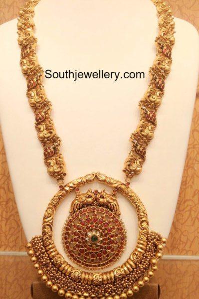 peacock_haram_huge_chandbali_pendant
