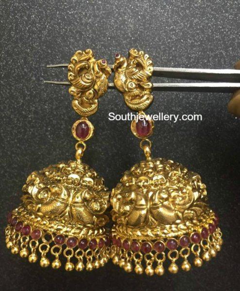 peacock_jhumkas_22_carat-gold