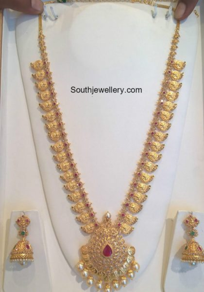 Ruby Gold Necklace Designs With Price