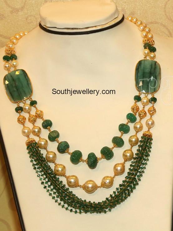 22 Carat Gold Beads Mala Jewellery Designs