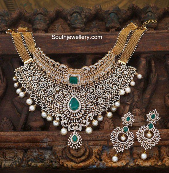 bridal_diamond_choker_navrathan_jewellers