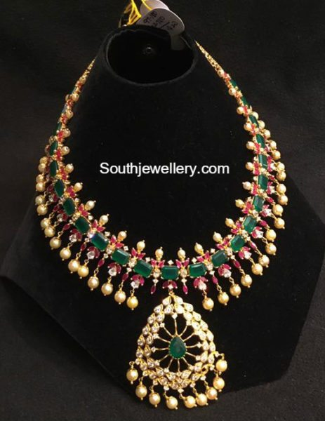 emerald ruby necklace