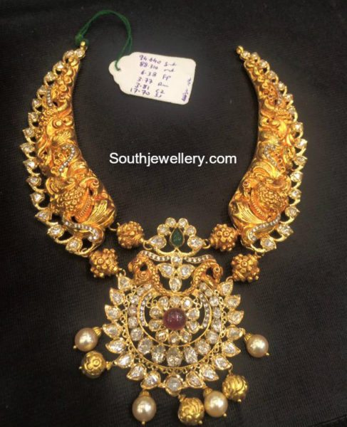 peacock_nakshi_polki_necklace