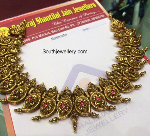 antique_gold_mango_nakshi_necklace