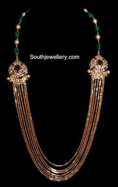 Elegant Antique Gold Chandraharam