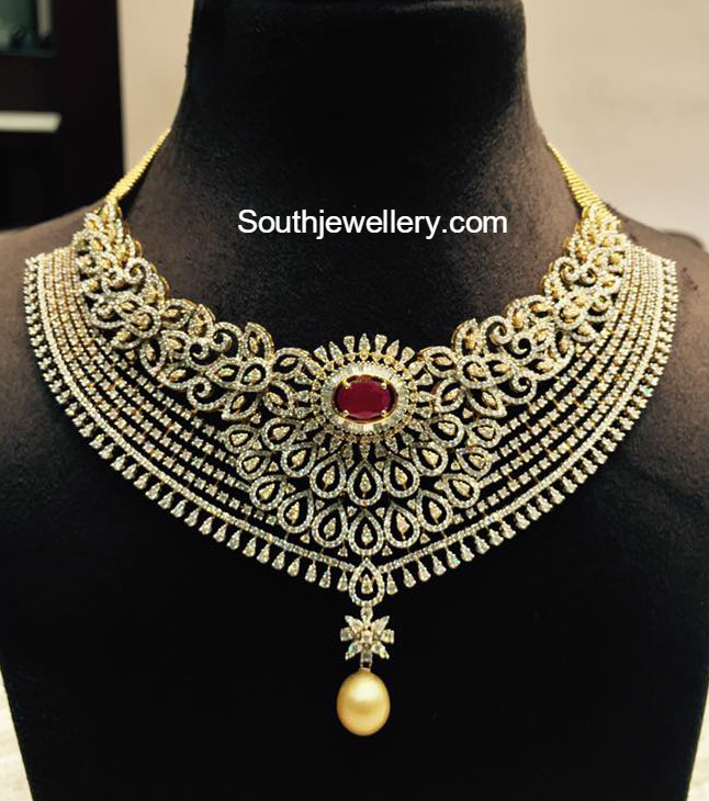 Gold And Diamond Jewellery Designs Indian Diamond Choker: Jewellery Designs