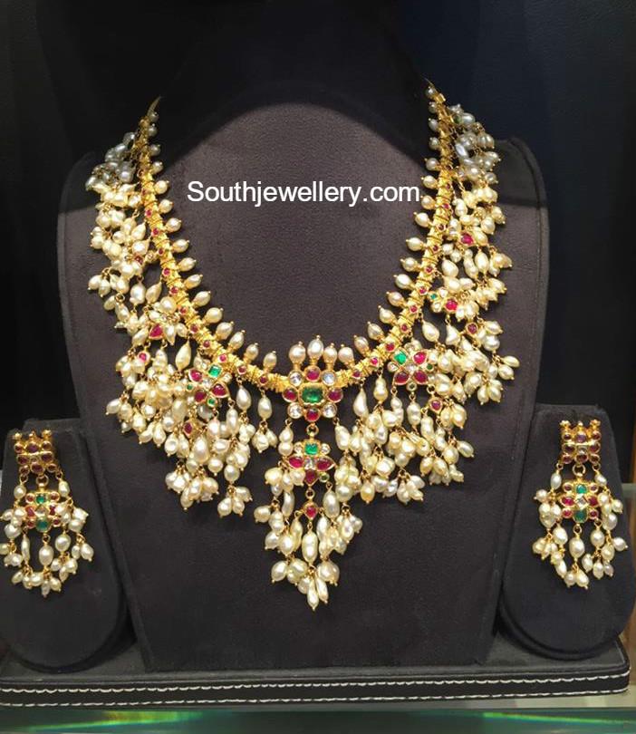 Guttapusalu Necklace Set By Mor Jewellers Jewellery Designs