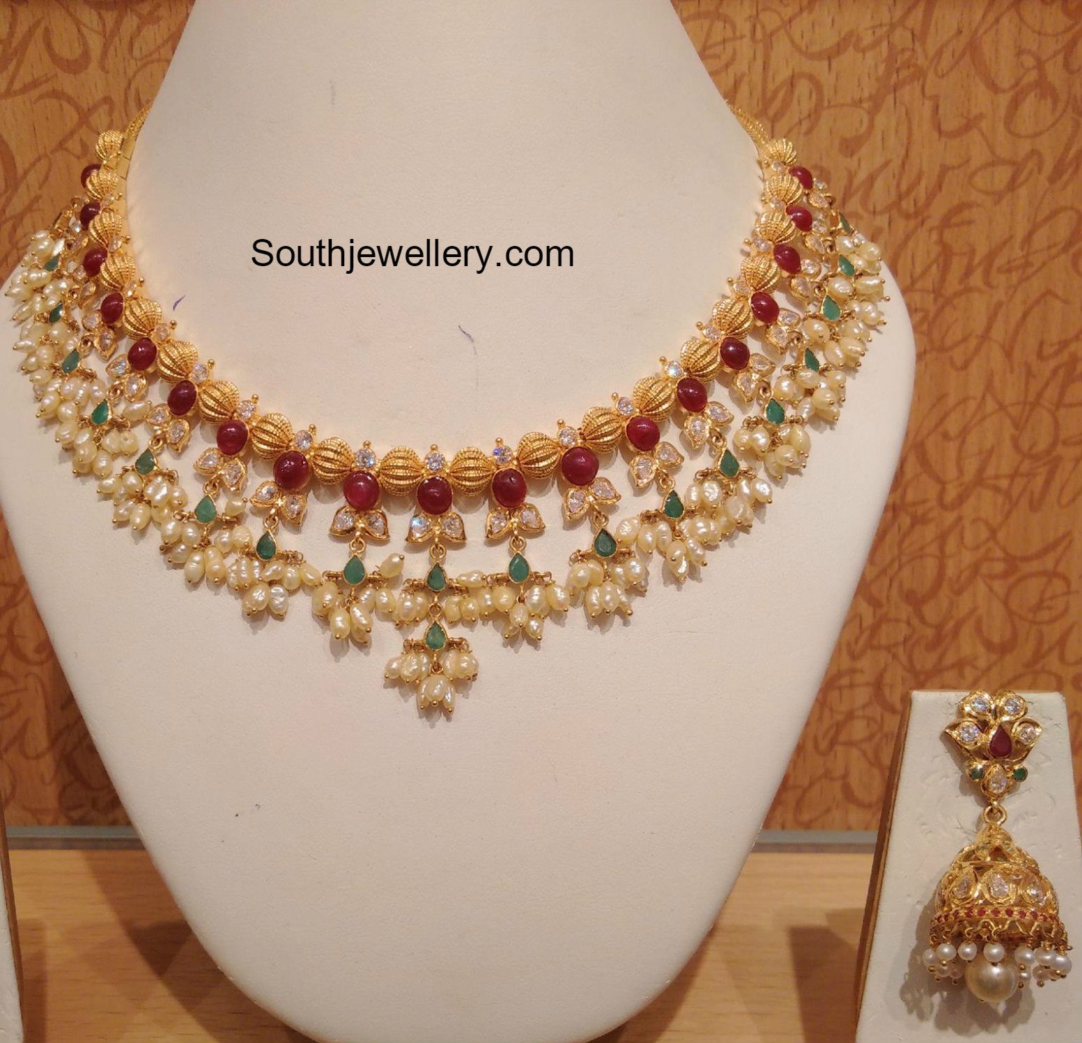 light indian low gold from india south jewels thangamayil weight necklace