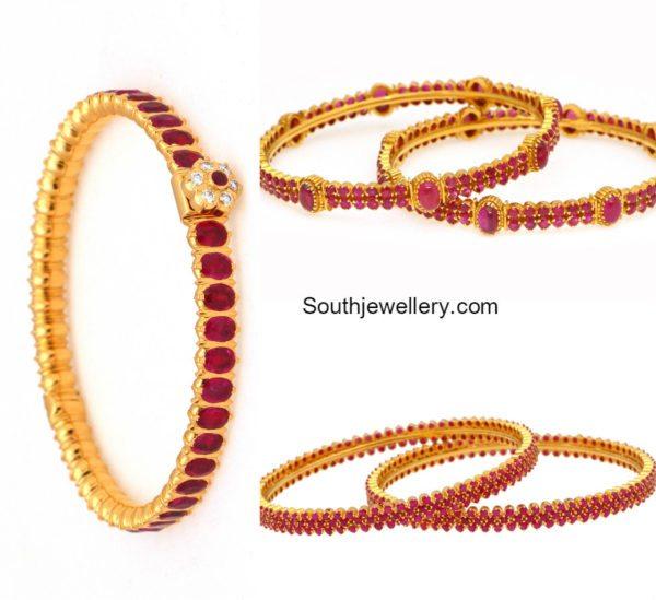 ruby bangles jewellery designs