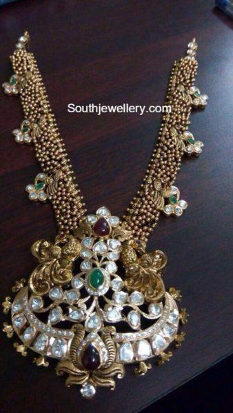 antique gold necklace pacchi pendant