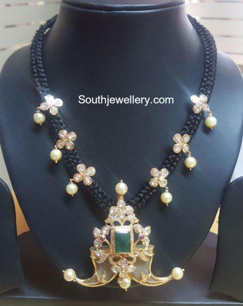 black dori cz necklace