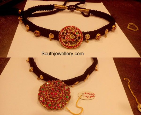 black_dori_necklace_kundan_pendant