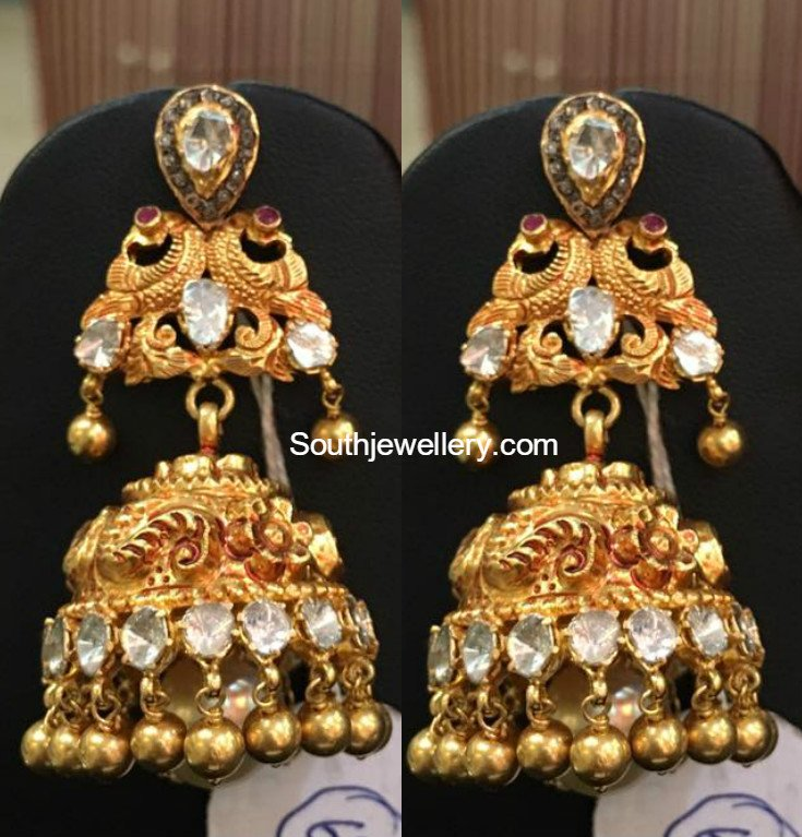 american exclusive designer jhumka pourni code earring diamond product buy a online