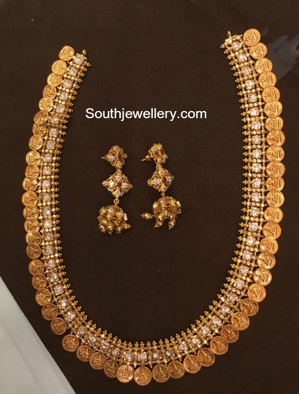 100 grams antique gold kasu haram jewellery designs