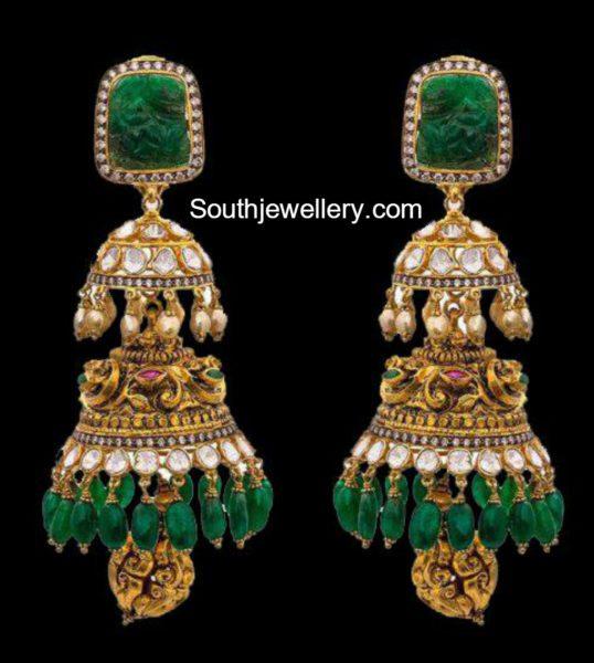 antique_gold_nakshi_jhumkas