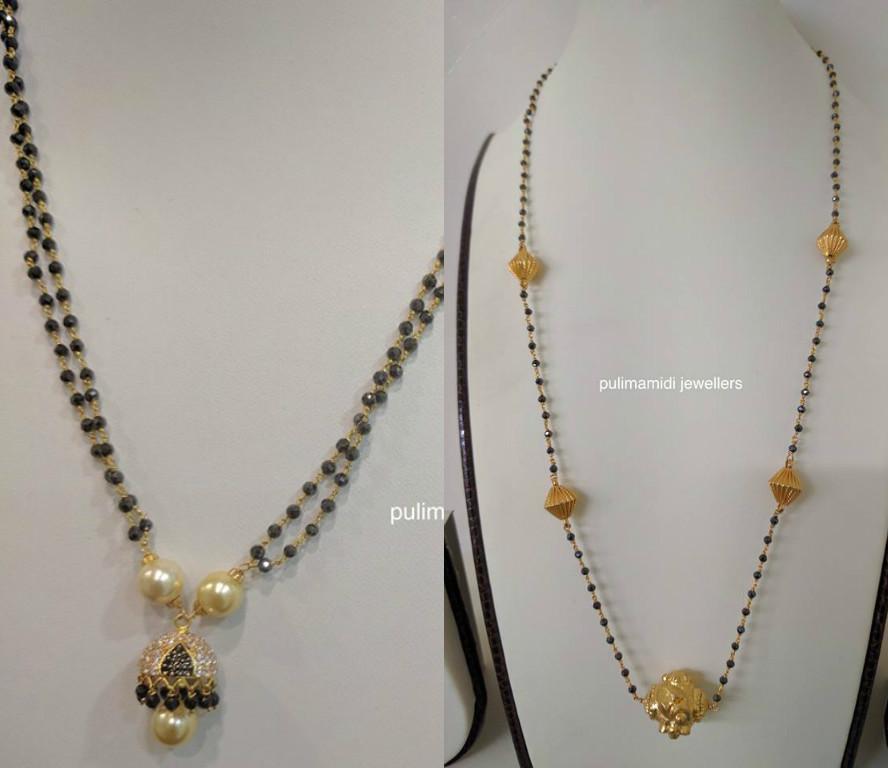 Diamond kasulaperu with pendant - Mangalsutra Latest Jewelry Designs Jewellery Designs