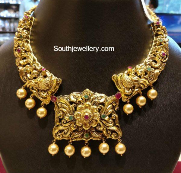 Light Weight Peacock Nakshi Necklace