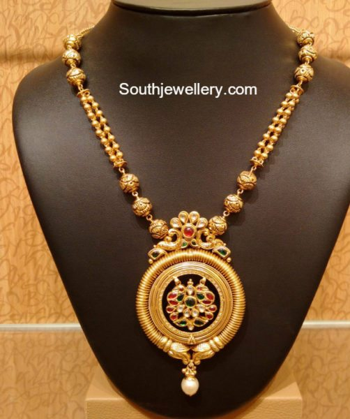 Antique necklace latest jewelry designs jewellery designs for Simple gold ornaments