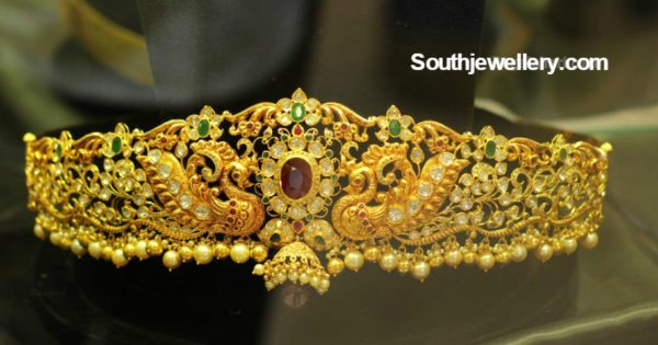 Antique Gold Peacock Vaddanam