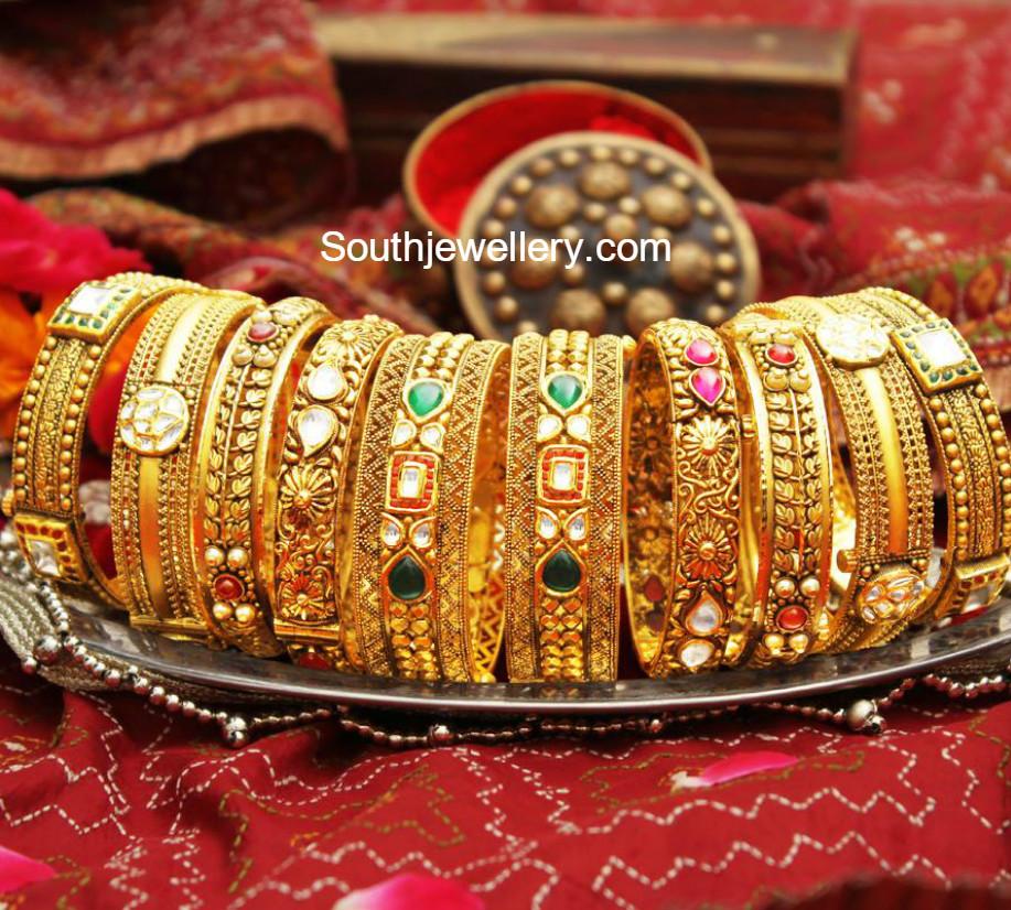 Gold Bangles Latest Jewelry Designs Jewellery Designs