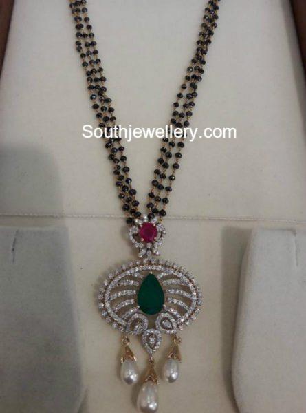 black_diamond_mangalsutra_with-diamond_pendant