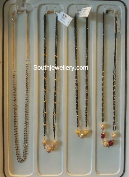 Simple Black Beads Mangalsutra Chain Models
