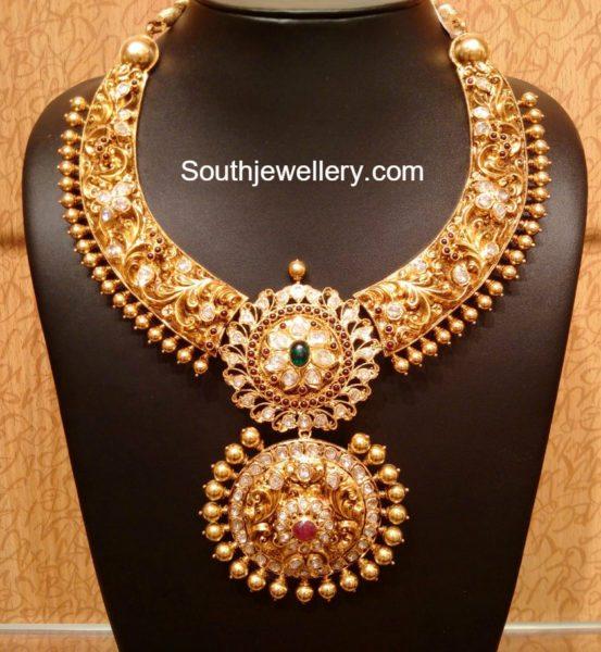 Beautiful Antique Gold Nakshi Necklace