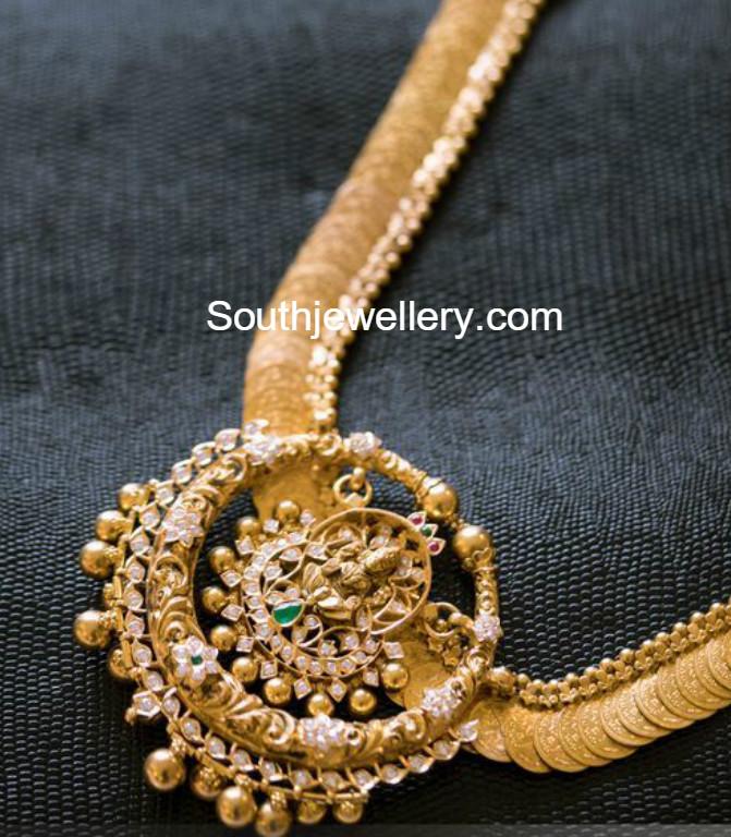 Uncut Diamond Kasulaperu Necklace Jewellery Designs