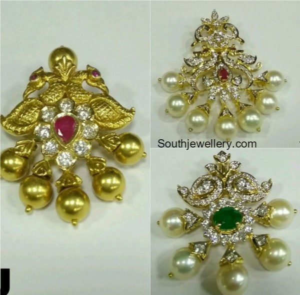Small Pendants for Black Beads Mangalsutra Chains