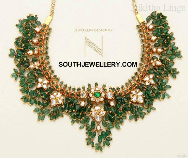 emerald-beads-guttapusalu-necklace