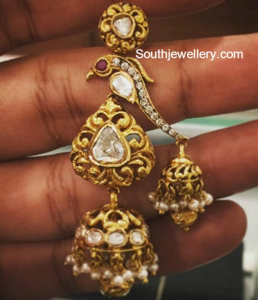 Double Jhumka Earrings