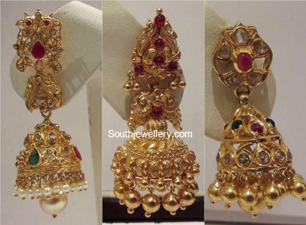 gold-jhumkas-models
