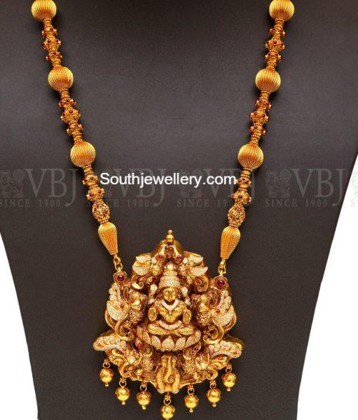 Antique Gold Long Chain with Lakshmi Pendant