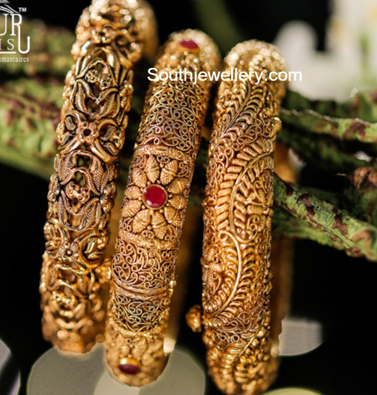 Gold Bangles latest jewelry designs - Jewellery Designs